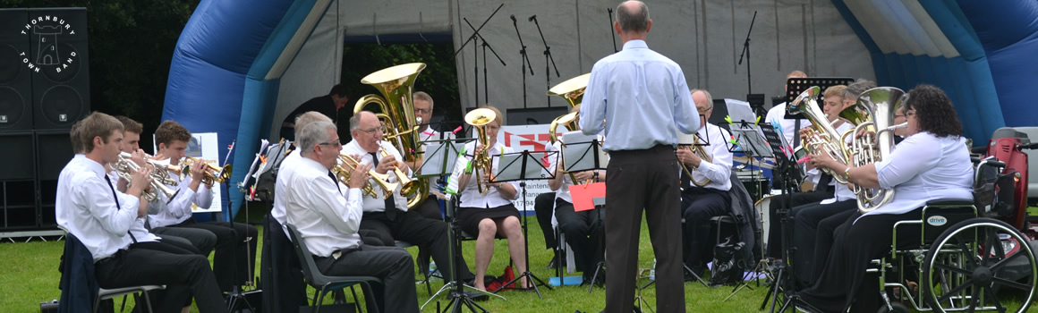 picture of the band playing in the park